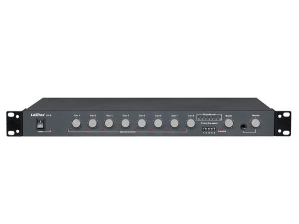 LX8 8路混音器、优先发言、48V幻象供电、可连中控控制